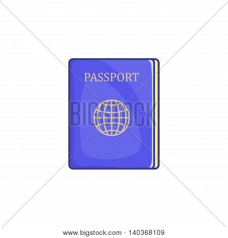 Passport icon in cartoon style on a white background