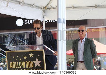 LOS ANGELES - JUL 28:  Sean Douglas, Michael Keaton at the Michael Keaton Hollywood Walk of Fame Star Ceremony at the Hollywood Walk of Fame on July 28, 2016 in Los Angeles, CA