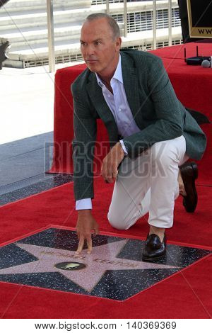 LOS ANGELES - JUL 28:  Michael Keaton at the Michael Keaton Hollywood Walk of Fame Star Ceremony at the Hollywood Walk of Fame on July 28, 2016 in Los Angeles, CA