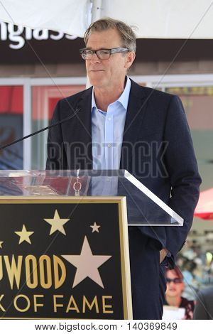 LOS ANGELES - JUL 28:  John Lee Hancock at the Michael Keaton Hollywood Walk of Fame Star Ceremony at the Hollywood Walk of Fame on July 28, 2016 in Los Angeles, CA