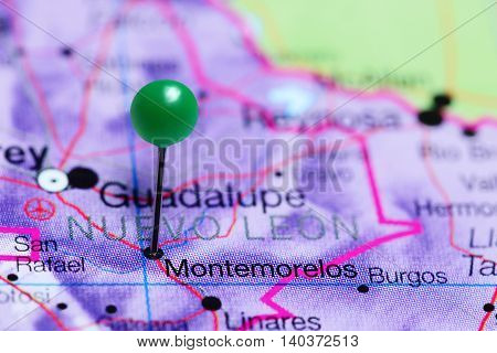 Montemorelos pinned on a map of Mexico