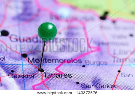 Linares pinned on a map of Mexico