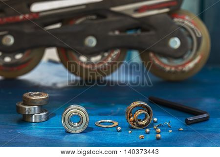 Replacing A Broken Wheel Bearing On A Scooter Or Roller