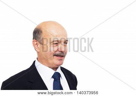 Elderly Man Looking Away In Disgust
