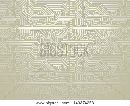 Vector silver circuit board pattern technology background