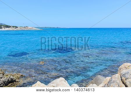 beautiful sea in orosei gulf in sardinia italy