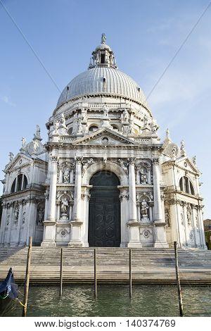 The Basilica Santa Maria della Salute in Venice Italy