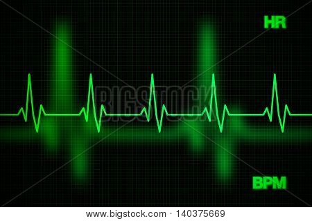 Heart Rate Graph Background