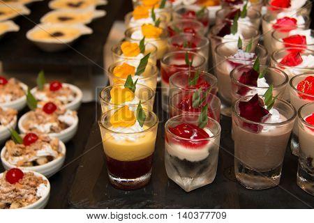 A delicious Mini in glass dessert station