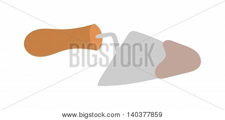 Putty knife worker equipment vector illustration isolated on white. Putty knife vector illustration cartoon style Workers tool