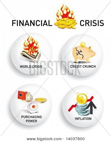 crisis vector icons