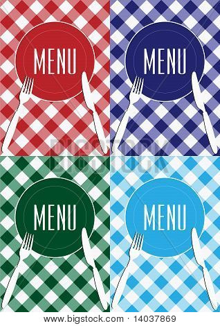 Set Of Menu Card Background
