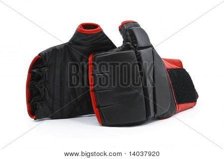 Black And Red Boxing Gloves