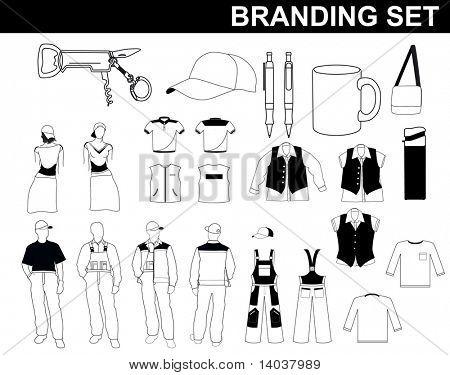 vector branding set