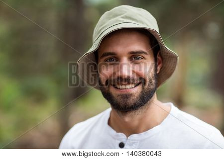 Portrait of handsome man at countryside