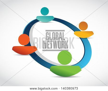 Global Network Network Sign Concept