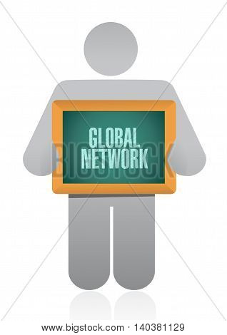 Global Network Holding Sign Concept