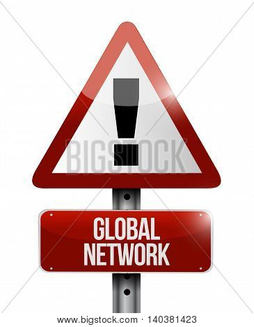 Global Network Warning Sign Concept