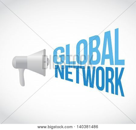global network loud speaker message sign concept illustration design graphic
