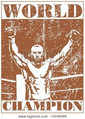 cartel de boxeo Grunge 1