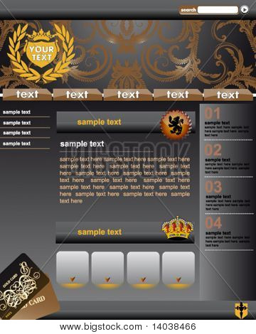 premium web site template