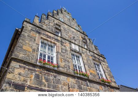 Facade of the old town hall in Schuttorf Germany