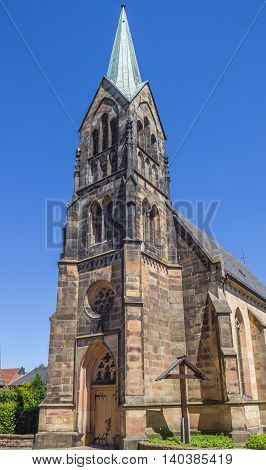 Catholic church in the historical center of Schuttorf Germany