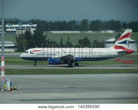 British Airways Airbus A320-232 In Prague