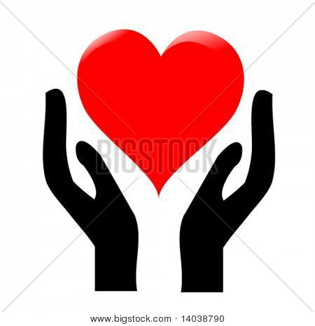 hands holding the heart #1
