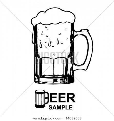 啤酒简笔画图片
