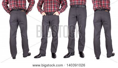 trousers for men isolated on a white background