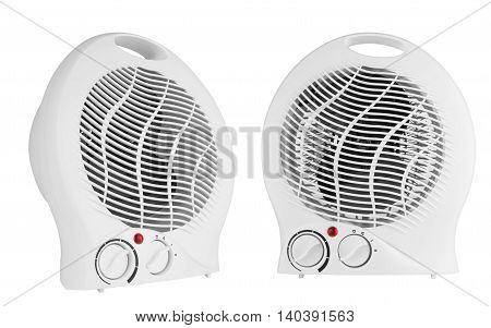 White heater isolated on a white background