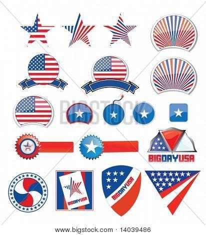 american design set - independence day