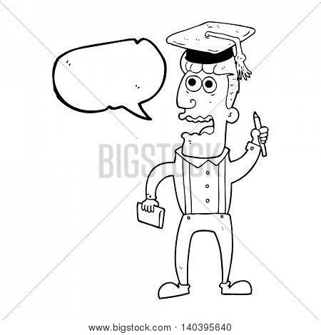 freehand drawn speech bubble cartoon stressed student