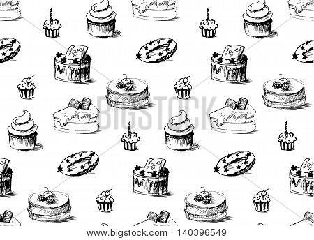 Tasty Cakes Seamless Pattern