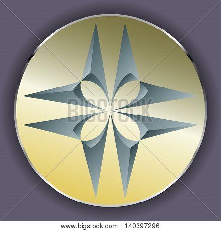 Symmetric abstract geometric shape, logo design template
