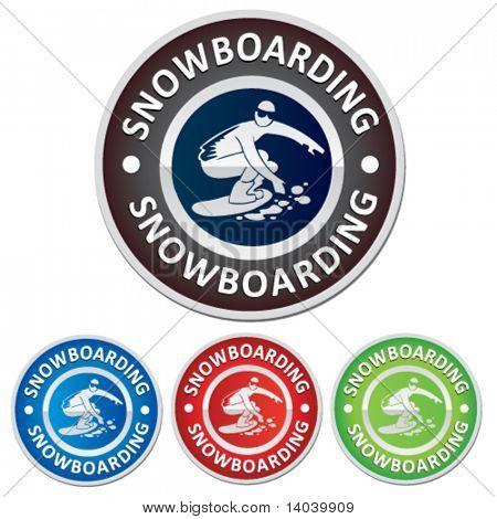 snowboarding badge