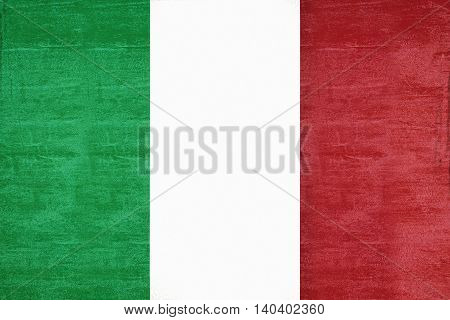 Illustration of the national flag of Italy with a grunge look