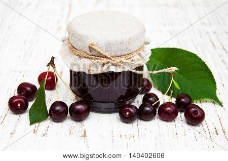 Cherry Jam With Fresh Berries