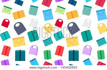 Shop Concept Seamless Pattern
