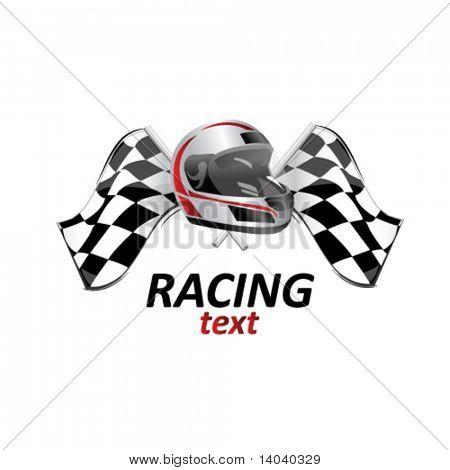 赛车标志 #1 库存矢量图和库存照片