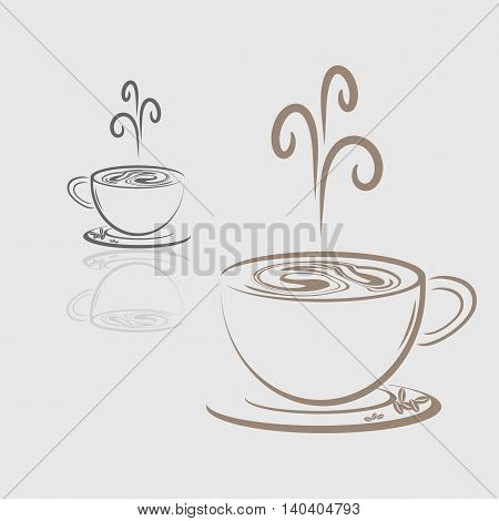 Vector icon of coffee cup hot drink