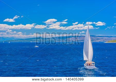 Adriatic sea is famous touristic destination for numerous sailboats from Europe, Croatia.