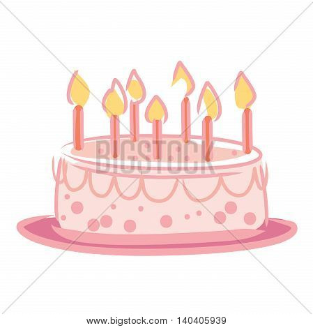 The candles on the cake in a festive special.