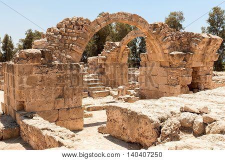 World Heritage Site, Saranta Kolones Fort, Paphos, Cyprus