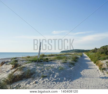 Path on a dune on Hiddensee Island Germany