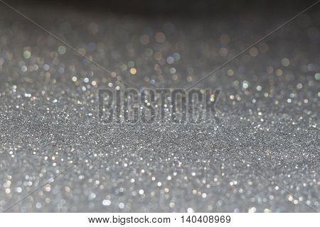 Grey Glitter Texture Macro