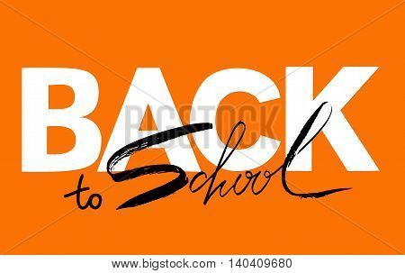 Back to school calligraphic text designs. Retro style back to school text elements. Vector back to school text education typography decoration.