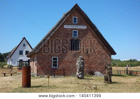 HIDDENSEE GERMANY - JUNE 11 2016: The Fischereimuseum fishing museum on Hiddensee Island Germany