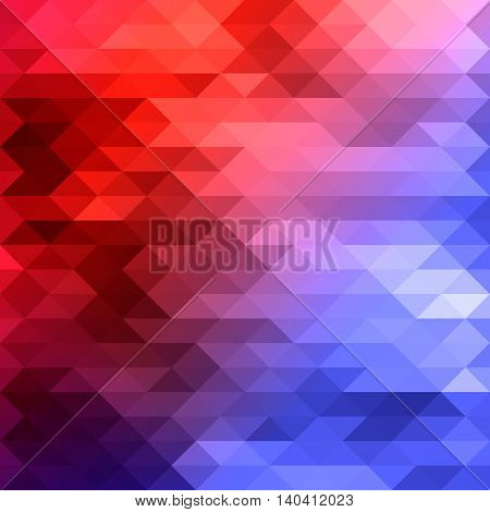 red blue beautiful colored mosaic vector background